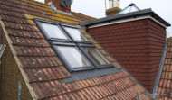 Flat-roofed dormer